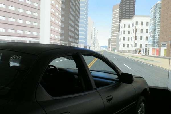 view of driving simulator