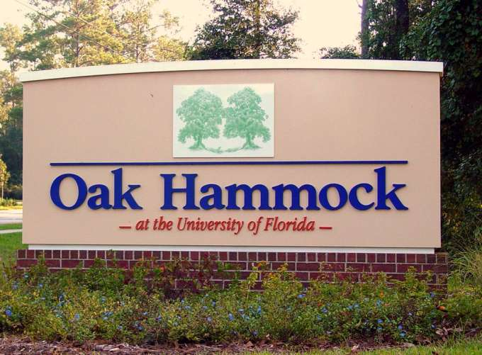 Oak Hammock Entrance on Williston Rd.